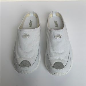 DKNY White Slip On Sneakers